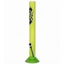 Bon acrilico verde fluor con dibujo trival